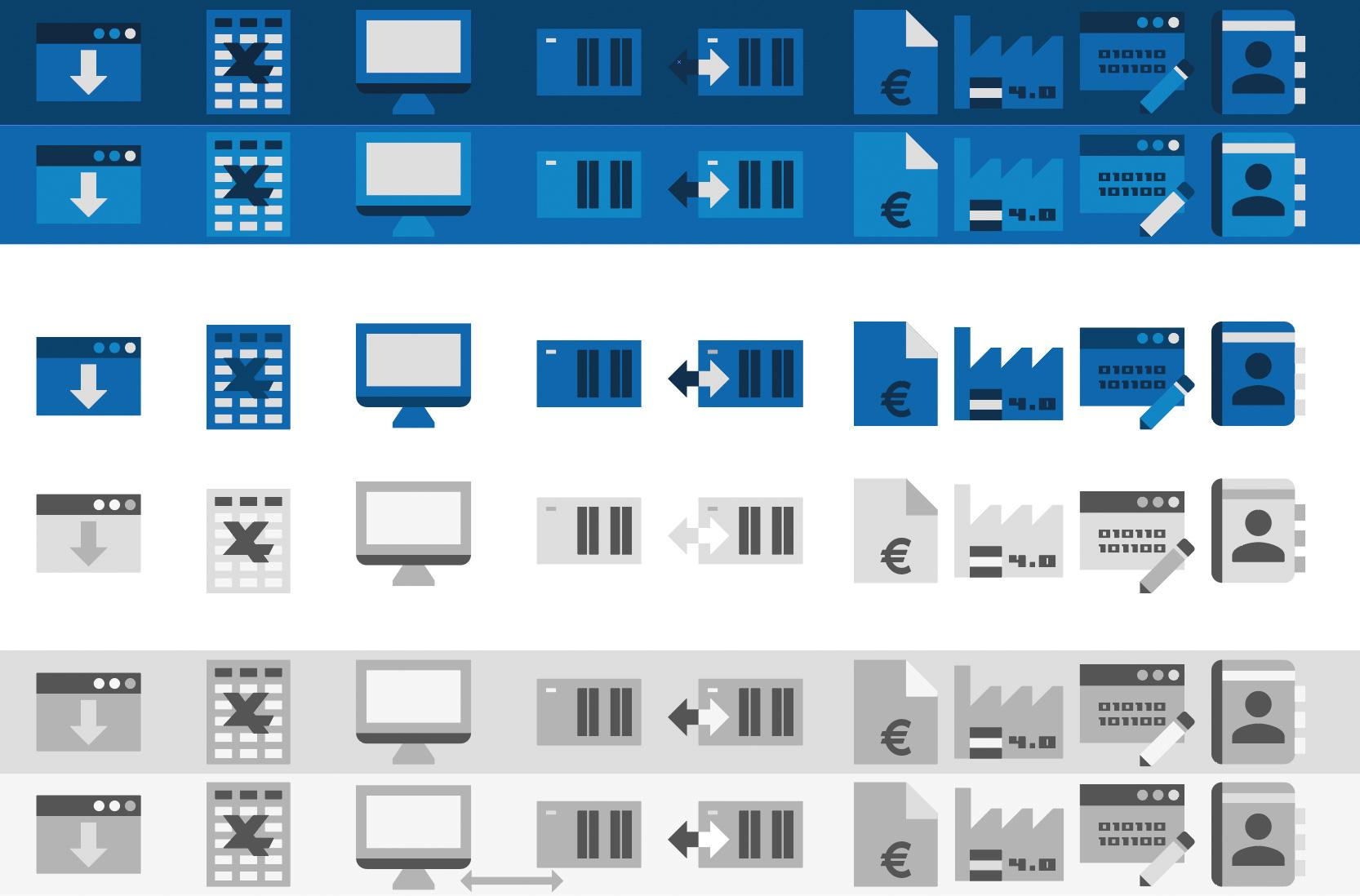 Icons für die MB Software und Systeme GmbH