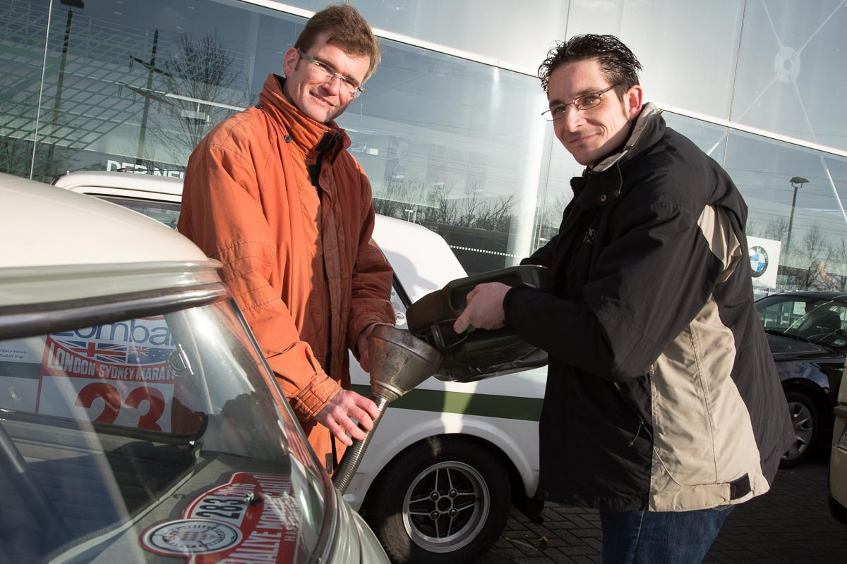"Erster Einsatz des Serviceteams ""VW-Bus"""