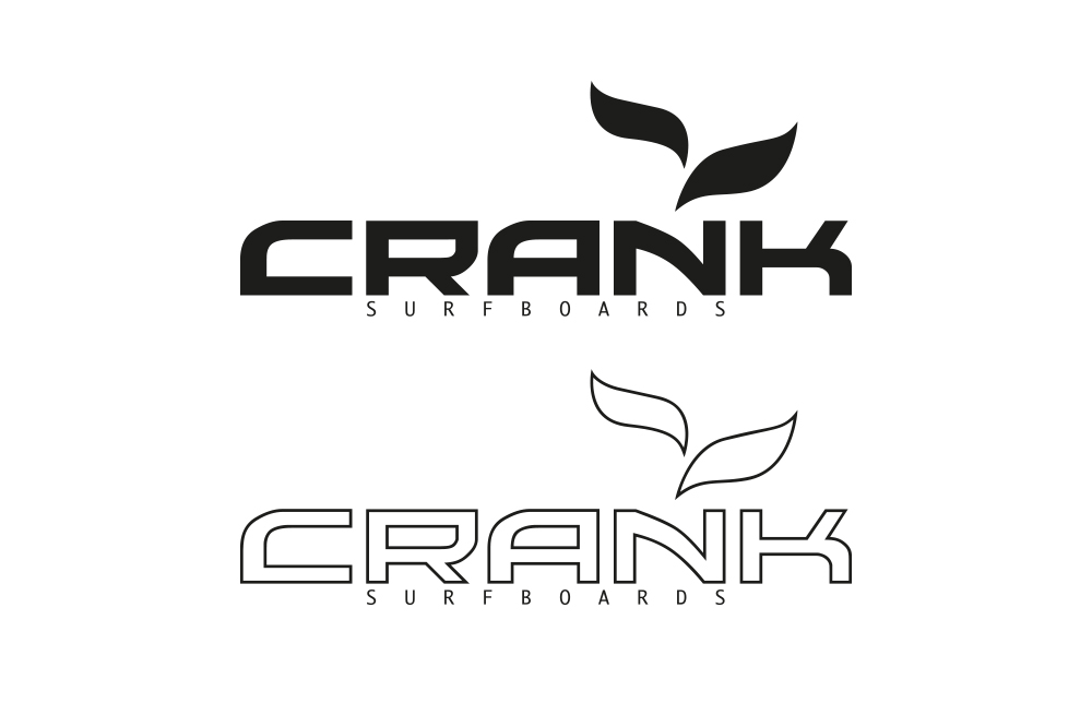 Logogestaltung für Crank Surfboards