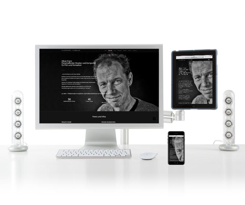 Neue Website für Filmmusik Oliver Kranz