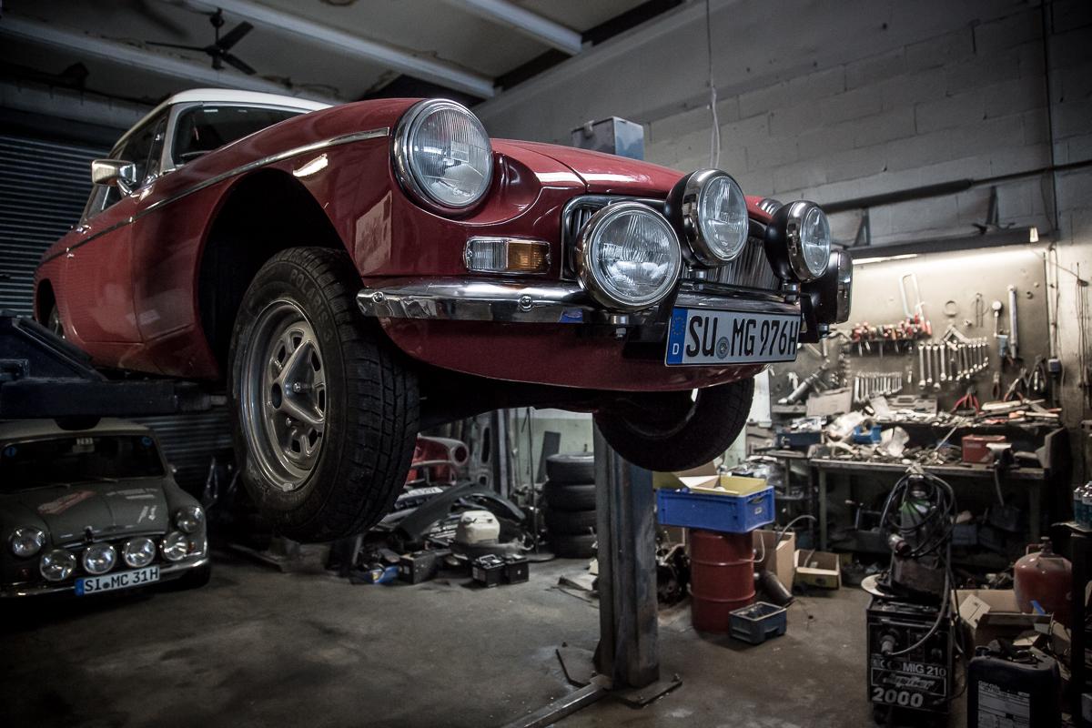 MG B BJ 1976 für die Rallye Monte Carlo Historique 2017 frisch restauriert