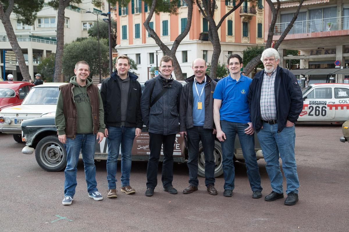 Das Team: Christian, Lukas, Jörg, Charlie, Thomas und Hans-Werner (v.l.n.r.)
