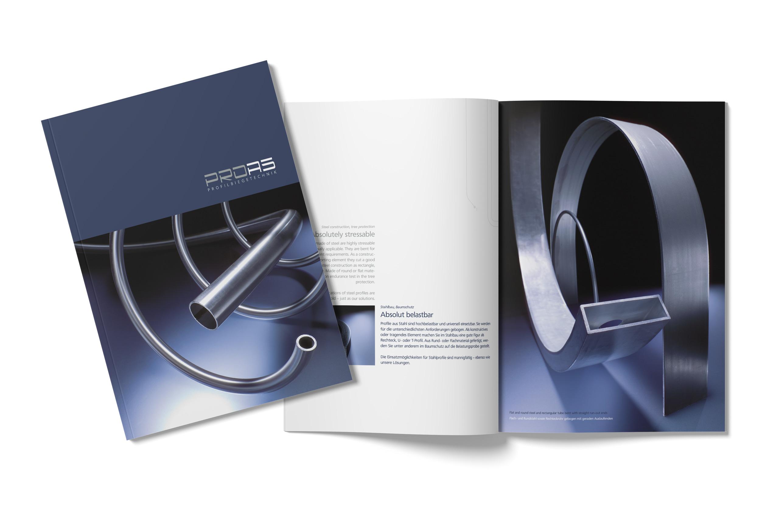 Imagebroschüre PROAS Profilbiegetechnik GmbH und Co. KG
