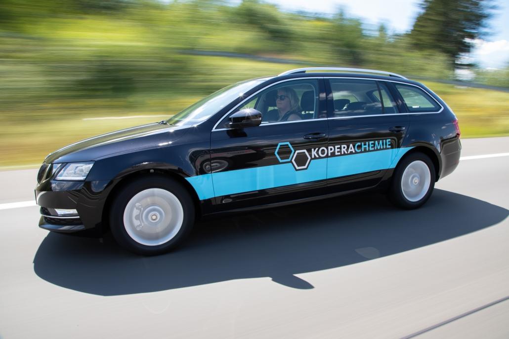 Fahrzeugbeschriftung für Kopera Chemie