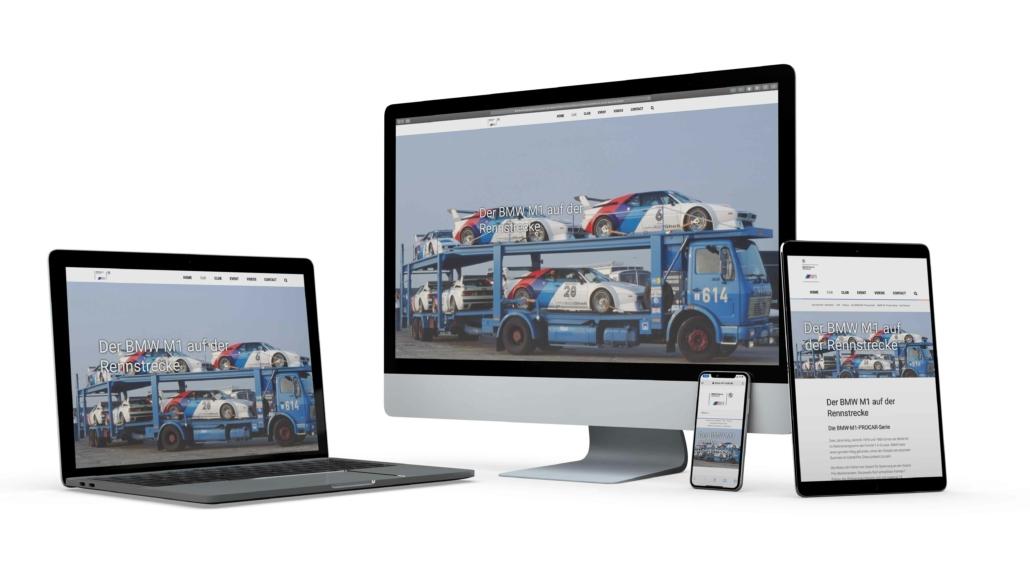 Referenzprojekt BMW M1 Club International e. V.